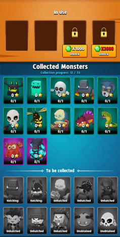 Equip a monster to get some bonus stats!