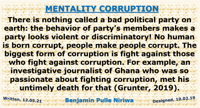 Fig. 1. The Mentality That Fights against Corruption Must Not Be Dangerously Corrupt