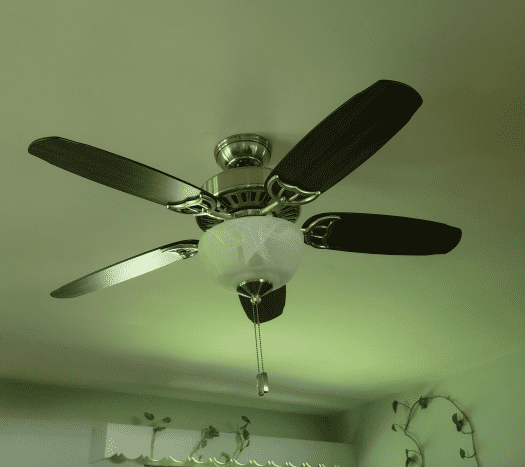 Murphy's Oil Soap makes the fan look polished and new.