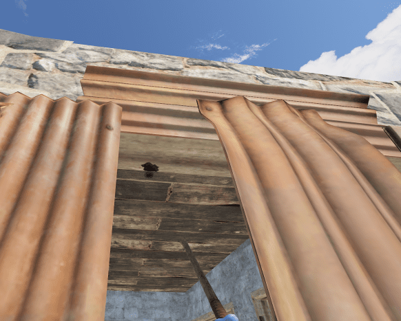 If you aim the spear just right, you can soft side out the roof.