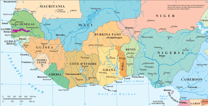West African map