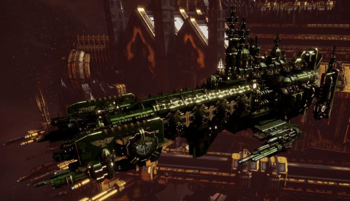 Adeptus Astartes Cruiser - Strike Cruiser MK.II (Dark Angels  Sub-Faction)