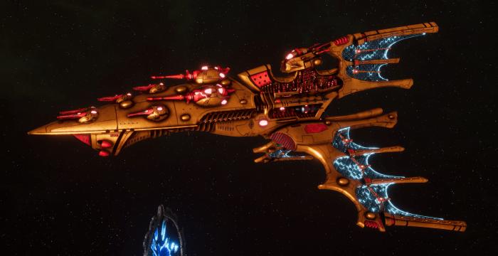 Aeldari Corsair Cruiser - Vaul [Sun Blitz - Sub-Faction]