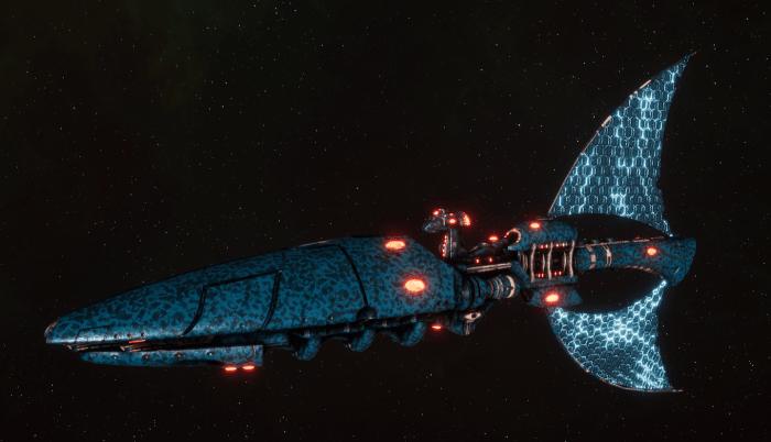 Asuryani Light Cruiser - Prismatic Wraithship [Alaitoc - Eldar Sub-Faction]