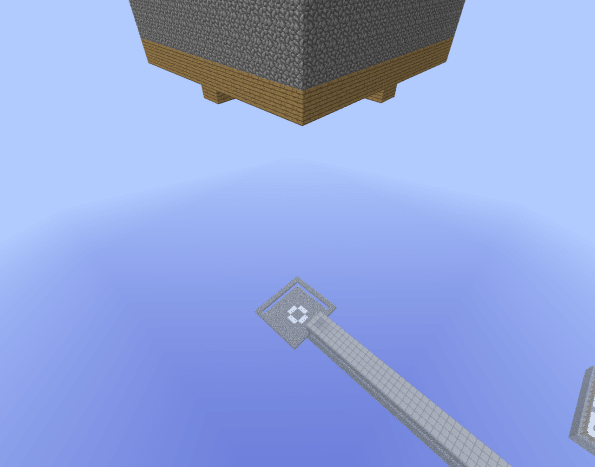 Building monster spawners in the sky guarantees mobs will fall to their death!