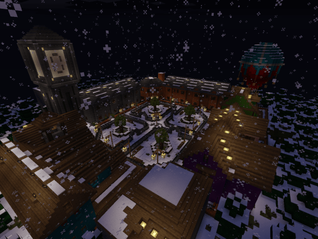 The village of Wintertide was the creepiest with the brightness low and volume high.