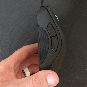 In the 2013 Razer switched to the non-slip side buttons. This is an upgrade that, for me, is worth its weight in gold.