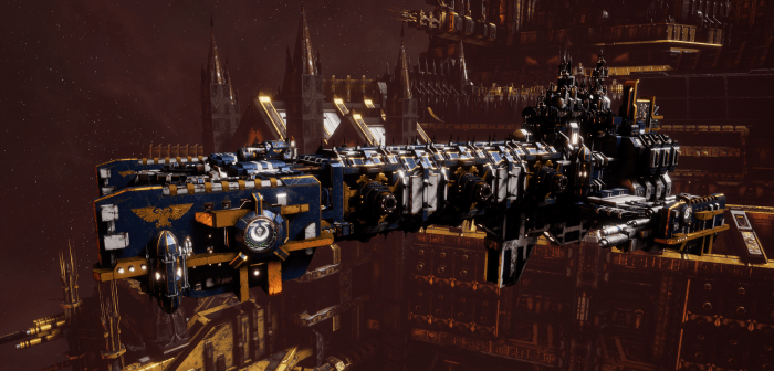 Adeptus Astartes Light Cruiser - Vanguard MK.III (Ultramarines Sub-Faction)