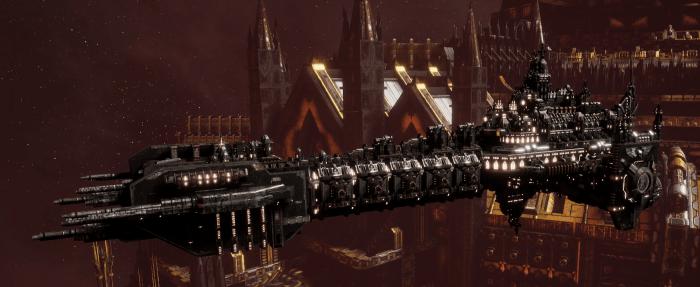 Adeptus Astartes Battleship - Battle Barge MK.I (Iron Hands Sub-Faction)