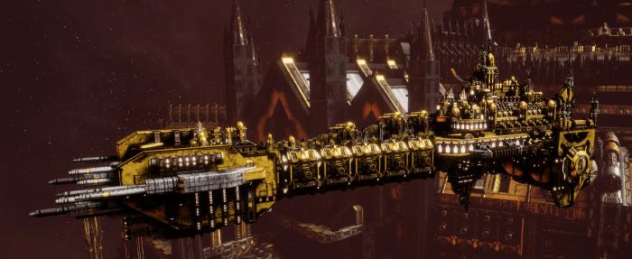 Adeptus Astartes Battleship - Battle Barge MK.II (Imperial Fist Sub-Faction)