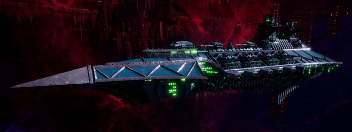 Chaos Battle Cruiser - Acheron (Alpha Legion Sub-Faction)
