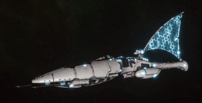 Asuryani Cruiser - Moonray Dragonship [Os'Tara - Eldar Sub-Faction]