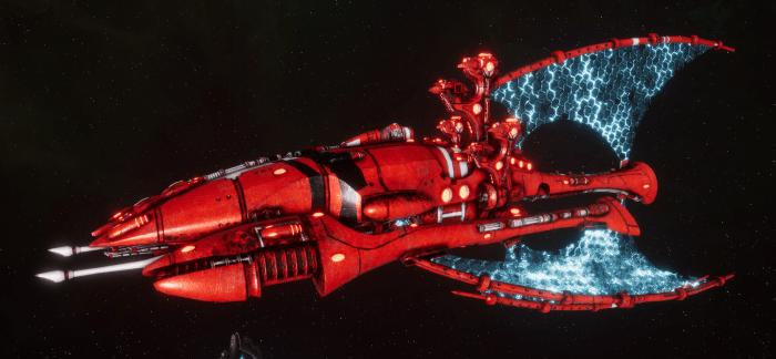 Asuryani Battle Cruiser - Phoenix Ship [Saim-Hann - Eldar Sub-Faction]