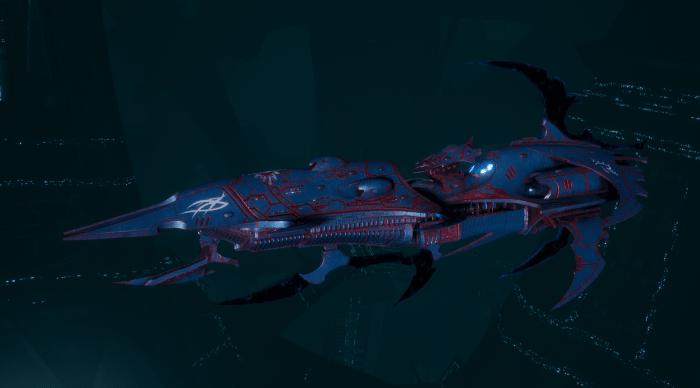 Drukhari Raider Light Cruiser - Burning Scale - [Dying Sun Sub-Faction]