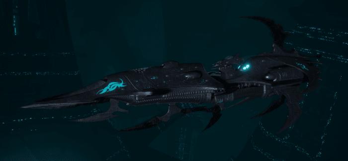 Drukhari Raider Light Cruiser - Baleful Gaze - [Iron Thorn Sub-Faction]
