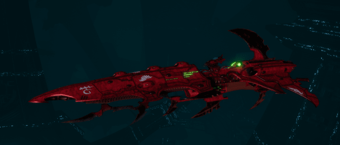Drukhari Raider Cruiser - Bloodied Claw - [Ynnari Sub-Faction]