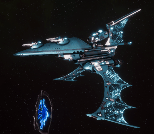 Aeldari Corsair Destroyer - Nightshade [Sky Raiders - Eldar Sub-Faction]