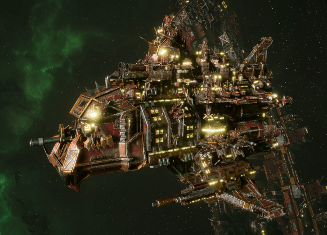 "Ork Battle Cruiser - ""Hammer"" - [Ork Pirates Sub-Faction"