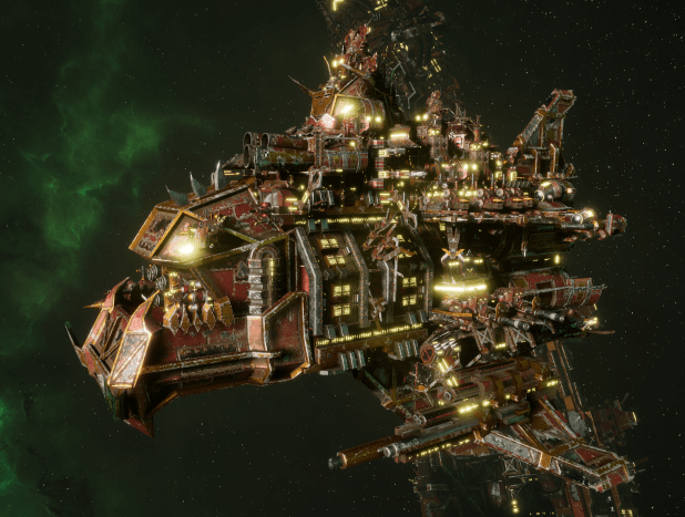 "Ork Battle Cruiser - ""Hammer Stompa"" - [Ork Pirates Sub-Faction]"