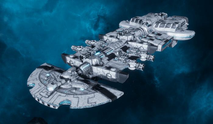 "Tau Merchant Fleet Cruiser - ""Lar'Shi Vash'Ya"" - [T'aun Sub-Faction]"