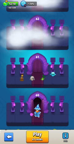 The tower of rooms in expedition mode that continuously extends upwards. Note you can see which enemies will be featured in the next room if you want to plan ahead!