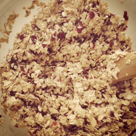 Stir together the cranberry oatmeal.