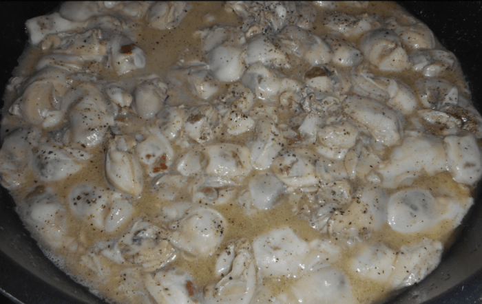 Butter and oysters