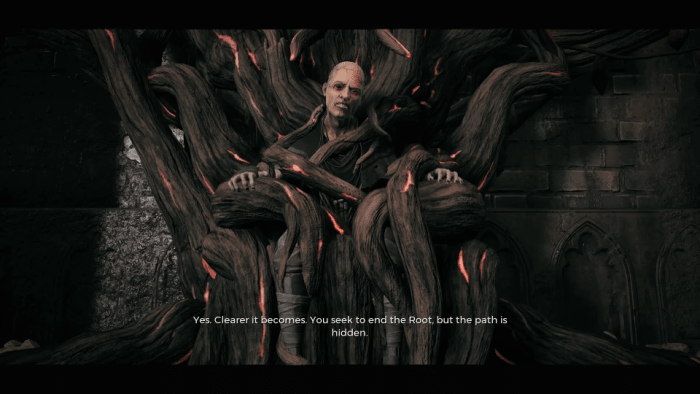 Your first encounter with the Root Mother.