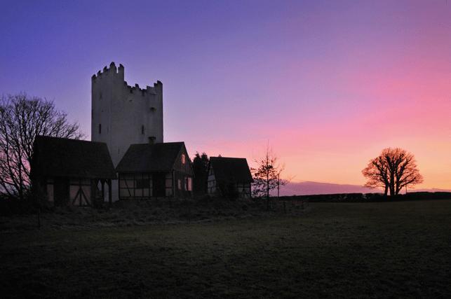 Grantstown Castle at Sunset