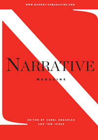 This is the inaugural cover for Narrative Magazine, established in 2003.
