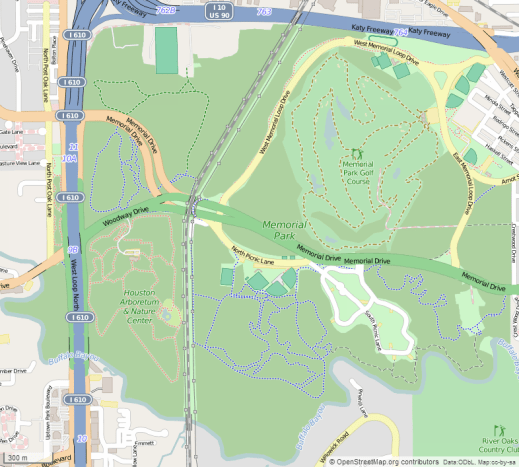 Map showing Memorial  Park