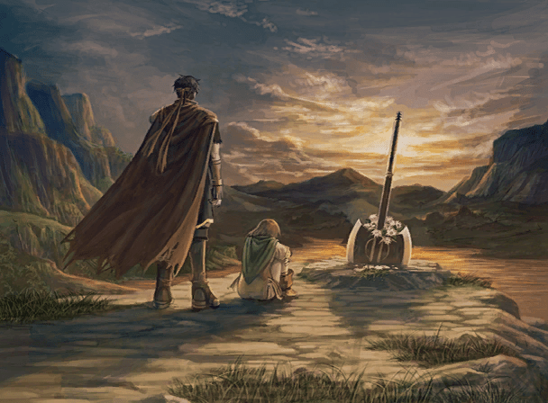 Ike and Mist at Greil's grave