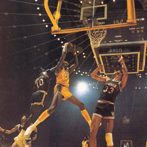 Wilt Chamberlain's amazing dunk.