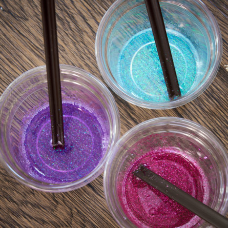 You can add glitter to the mica pigment for an added effect.