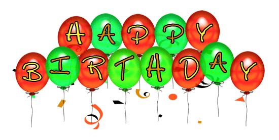 B-Day Balloons Clip Art Small