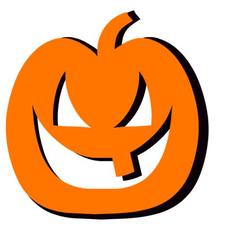 Carved orange pumpkin