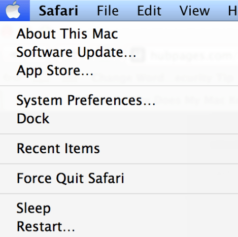 Location of Force Quit On Your Mac