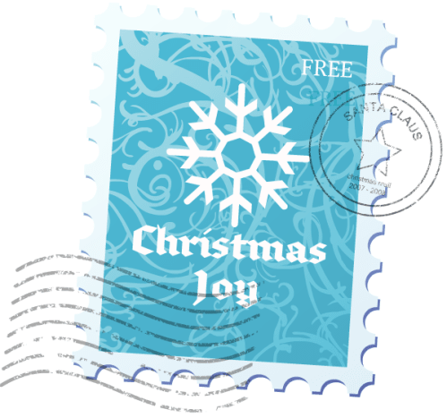 Christmas snowflake stamp.