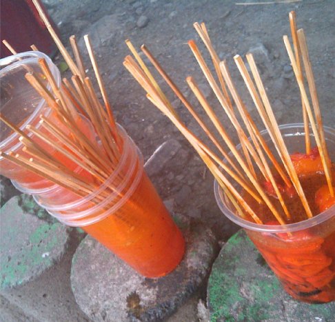 300-peso worth isaw for my friend and me from Ate Angie's in UP Diliman.