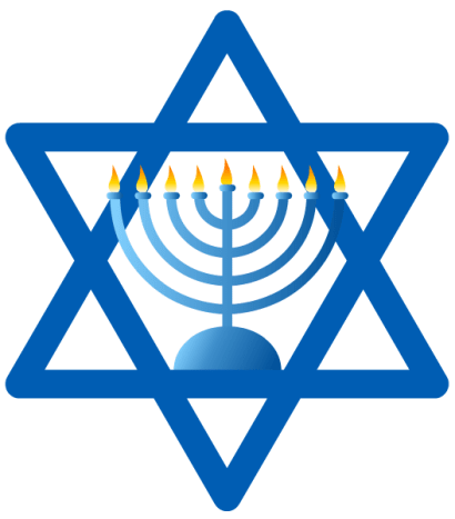 Follow the instructions in the left column to download the Hanukkah symbols