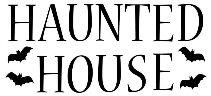 Haunted house Halloween clip art  small.