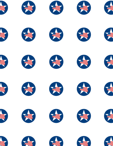Free patriotic papers: Flying flags in blue circles