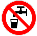 """Do not drink this water. It is """"non-potable""""."""