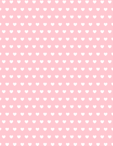 Free valentine hearts scrapbook paper: pink background with white hearts