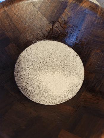 Dissolve yeast in warm water.