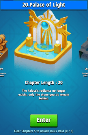 Check your progress on the chapter selection screen