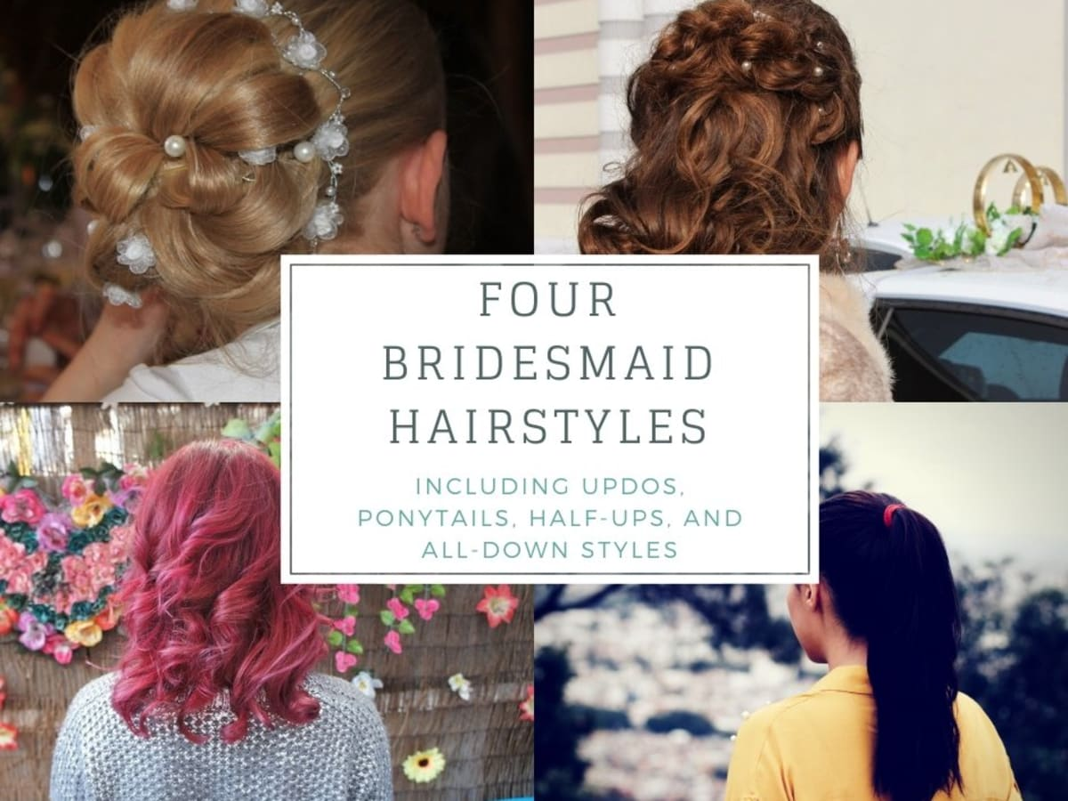 4 Bridesmaid Hairstyles Updos Half Up Ponytail And All Down Bellatory Fashion And Beauty