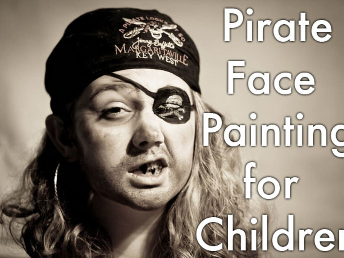 Pirate Face Painting For Children Tutorials Tips And Designs Holidappy Celebrations