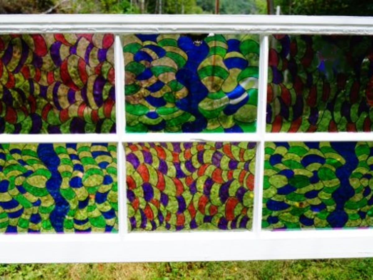 Sharpie Art How To Make A Stained Glass Window Feltmagnet Crafts