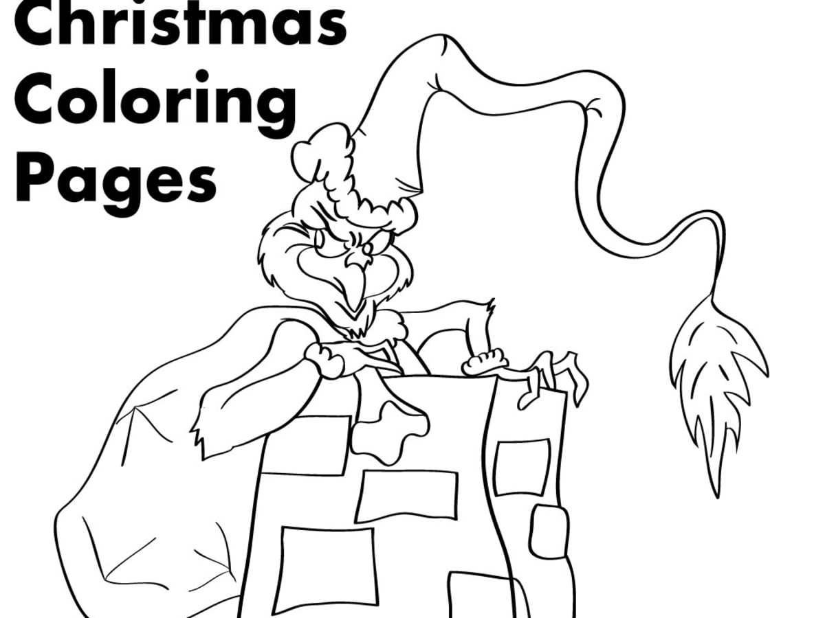 Grinch Christmas Printable Coloring Pages Holidappy Celebrations